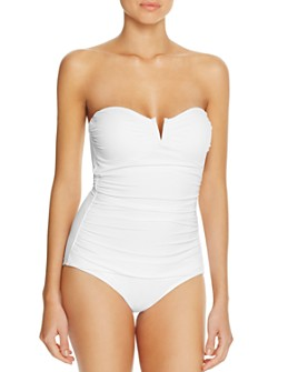 Tommy Bahama - Pearl V-Wire Bandeau One Piece Swimsuit