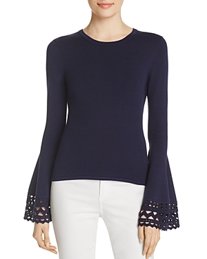 Milly Cutout Flare Sleeve Top