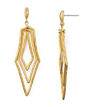 Stephanie Kantis Paris Triple Geometric Drop Earrings