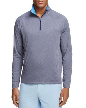 Vineyard Vines Nine Mile Performance Heathered Half Zip Sweatshirt
