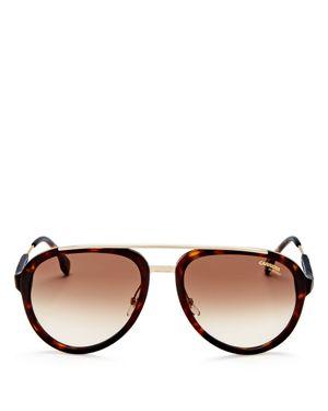 Carrera Metal Top Bar Aviator Sunglasses, 57mm