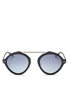 Dior Homme - Men's Diorsystems Mirrored Brow Bar Round Sunglasses, 49mm