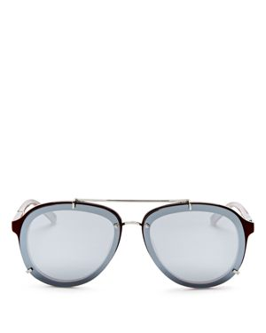 3.1 Phillip Lim Mirrored Aviator Sunglasses, 61mm