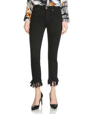 Maje Panako Cropped Jeans in Black