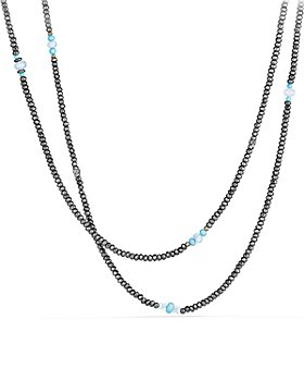 David Yurman - Mustique Beaded Necklace with Hematine and Turquoise