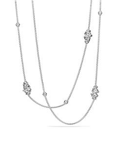 David Yurman - Crossover Station Necklace with Diamonds