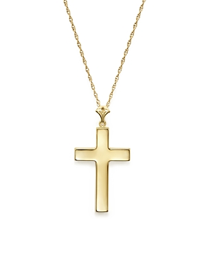 14K Yellow Gold Large Cross Necklace, 18 - 100% Exclusive