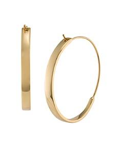 Lauren Ralph Structural Hoop Earrings Bloomingdale S 0