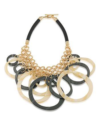 "Trina Turk - Circles Bib Necklace, 24"""