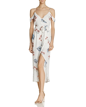 Bardot Floral Mock Wrap Dress