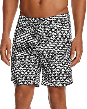 Onia Calder Fish Scale Swim Trunks