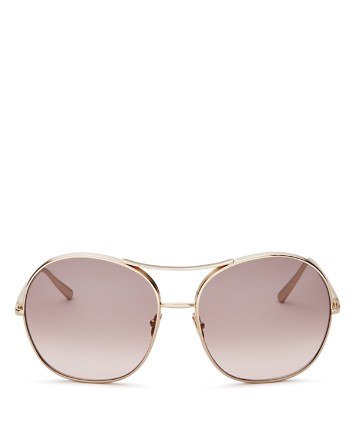 $Chloé Round Sunglasses, 61mm - Bloomingdale's