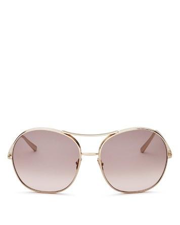$Chloé Women's Round Sunglasses, 61mm - Bloomingdale's