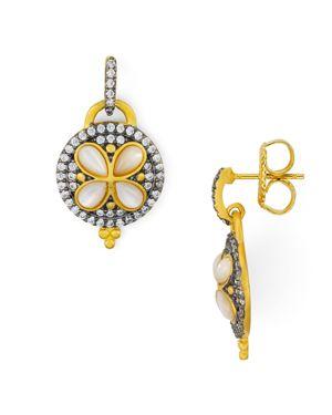 Freida Rothman Fleur Bloom Drop Earrings