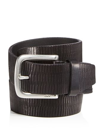 John Varvatos Star USA - Laser-Scored Strap Belt with Harness Buckle