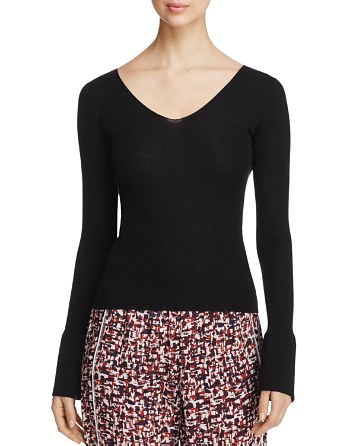 $DKNY Bell Sleeve Wool Sweater - Bloomingdale's