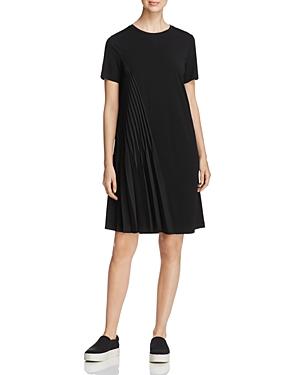 Dkny Short Sleeve Asymmetric-Pleat Dress