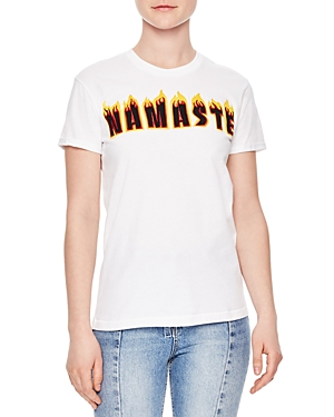 Sandro Flame Embroidered Tee