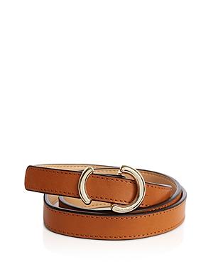 Karen Millen Skinny O-Ring Leather Belt