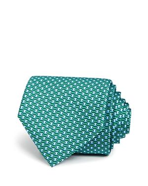 Salvatore Ferragamo Signature Connected Buckle Neat Classic Tie