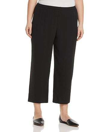 Eileen Fisher Plus - System Silk Straight Crop Pants