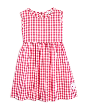 Smiling Button Girls' Gingham Dress - Little Kid