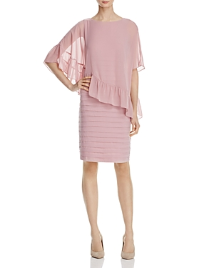 Adrianna Papell Bodice Overlay Banded Dress