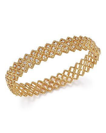Roberto Coin - 18K Yellow Gold New Barocco Diamond Bangle