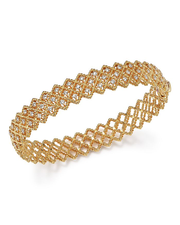 Roberto Coin - 18K Yellow Gold New Barocco Diamond Bangle