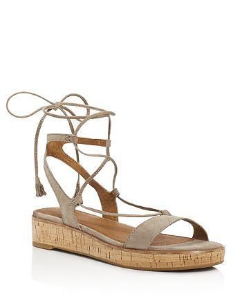 Frye - Women's Miranda Suede Gladiator Wedge Sandals