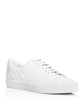 Burberry - Women's Westford Quilted Lace Up Low Top Sneakers