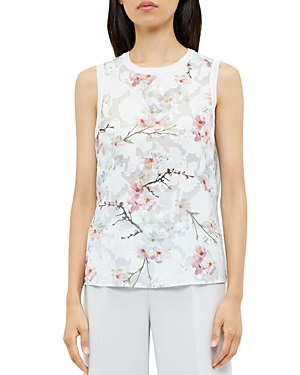 Ted Baker Floral Print Sleeveless Top