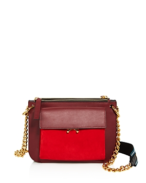 Marni Bandoleer Suede Shoulder Bag