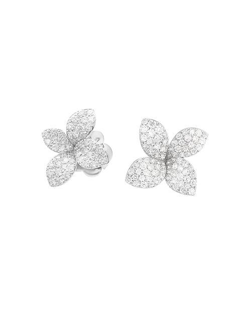 Pasquale Bruni - 18K White Gold Secret Garden Pavé Diamond Earrings
