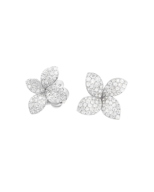 Pasquale Bruni 18K White Gold Secret Garden Pave Diamond Earrings