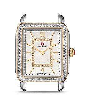 MICHELE - Deco II Mid Two-Tone Diamond Dial Watch Head, 26mm x 27.5mm