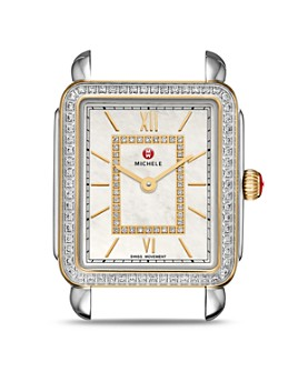 MICHELE - Deco II Mid Two-Tone Diamond Dial Watch Head, 26mm x 27.5mm