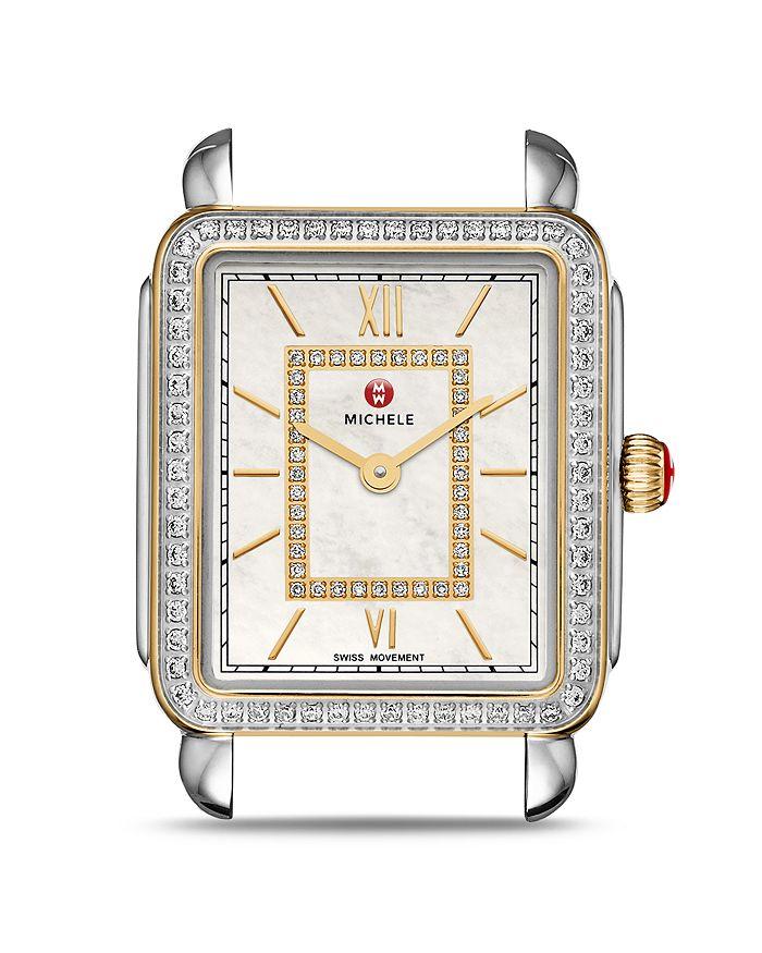 MICHELE - Deco II Two-Tone Diamond Dial Watch Head, 26mm x 27.5mm