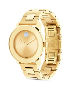 Movado - Movado BOLD Yellow Gold Ionic Plated Museum Dial Watch, 36mm