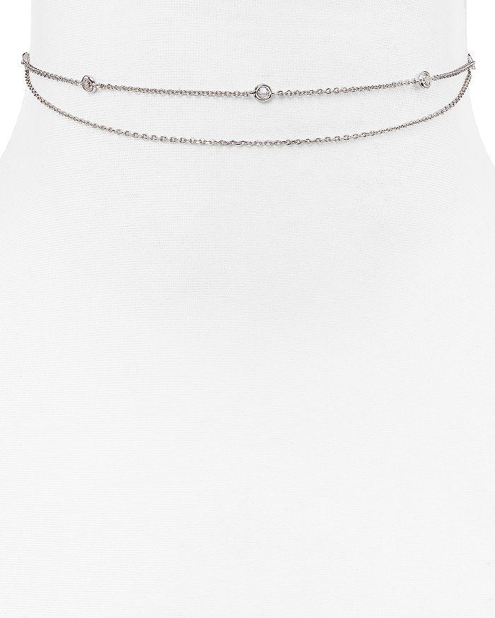 Jules Smith Crimson Chain Choker Necklace, 12 In Silver