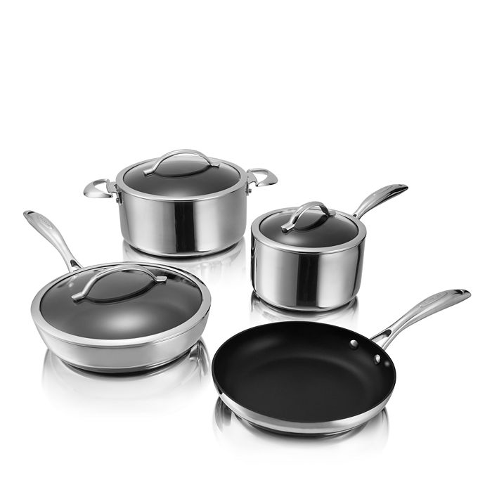 Scanpan - CTP Mirror Polished Stainless Steel 7-Piece Cookware Set - 100% Exclusive