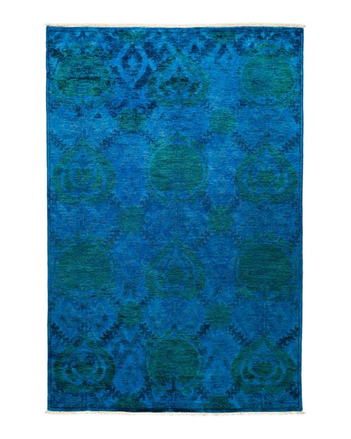 """Solo Rugs - Vibrance Collection Oriental Rug, 6'1"""" x 9'"""