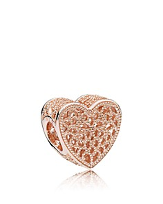 PANDORA 14K Rose Gold & Sterling Silver Filled With Romance Charm - Bloomingdale's_0