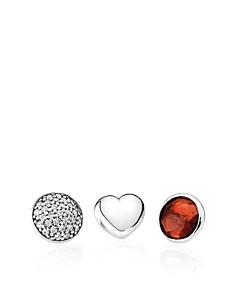 PANDORA Charms - Sterling Silver, Garnet & Cubic Zirconia January Petites, Set of 3 - Bloomingdale's_0