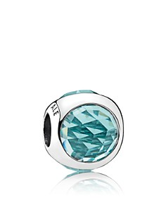 PANDORA Charm - Sterling Silver & Cubic Zirconia Radiant Droplet Icy Green - Bloomingdale's_0