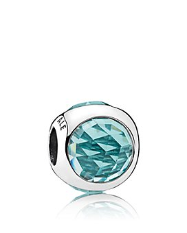 Pandora - Charm - Sterling Silver & Cubic Zirconia Radiant Droplet Icy Green