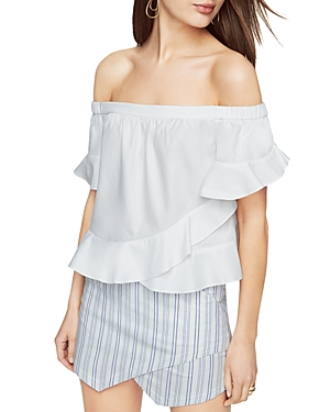 Bcbgmaxazria Trixy Off-the-Shoulder Ruffle Top