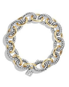 David Yurman - Oval Large Link Bracelet with Gold