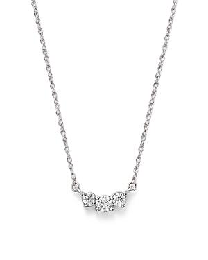Diamond Three Stone Pendant Necklace in 14K White Gold, .50 ct. t.w. - 100% Exclusive