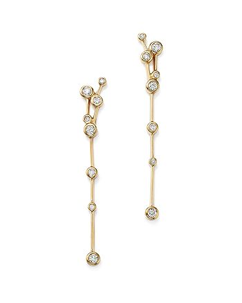 Bloomingdale's - Diamond Station Linear Earrings in 14K Yellow Gold, .50 ct. t.w. - 100% Exclusive
